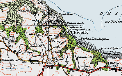 Old map of Wrinkleberry in 1919