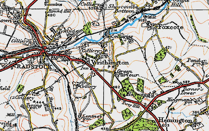 Old map of Writhlington in 1919