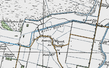 Old map of Wroot in 1923