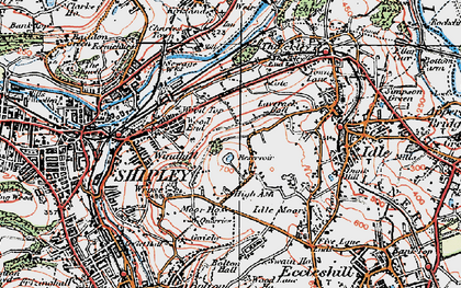 Old map of Wrose in 1925