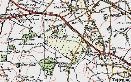 Old map of Wrottesley Park in 1921