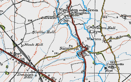 Old map of Wroughton Park in 1919