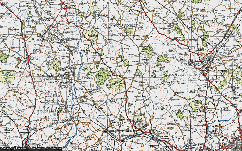 Old Map of Wroxall, 1919 in 1919