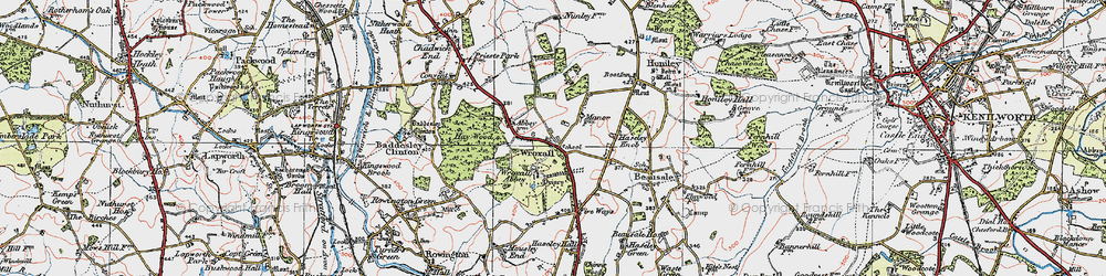 Old map of Wroxall in 1919