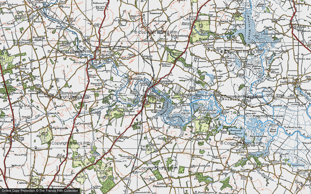 Old Map of Wroxham, 1922 in 1922