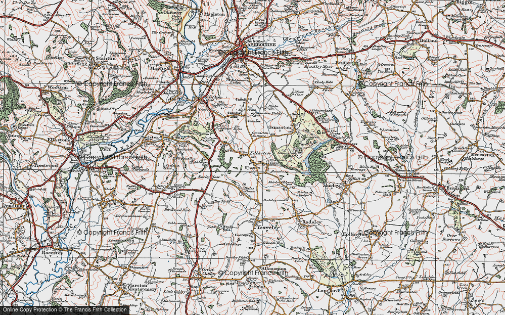 Old Map of Wyaston, 1921 in 1921