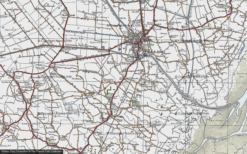 Old Map of Wyberton, 1922 in 1922