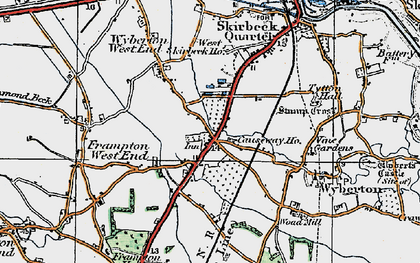 Old map of Wyberton in 1922