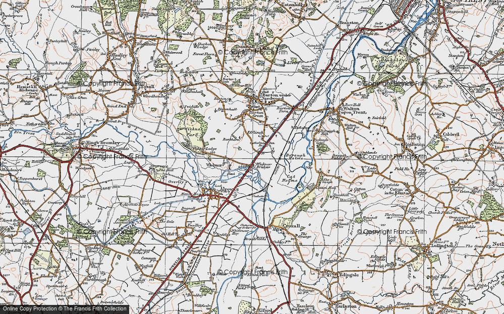 Wychnor Bridges, 1921