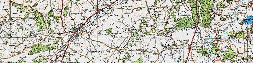 Old map of Wyck in 1919