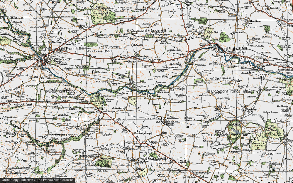 Old Map of Wycliffe, 1925 in 1925