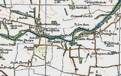 Old map of Wycliffe in 1925
