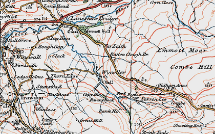 Old map of Wycoller in 1925