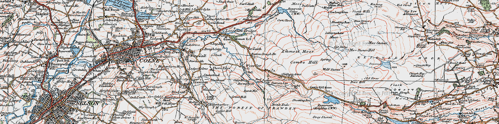 Old map of Wolf Stones in 1925