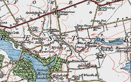 Old map of Bank Slack in 1925