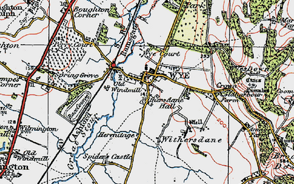 Old map of Wye Court in 1921