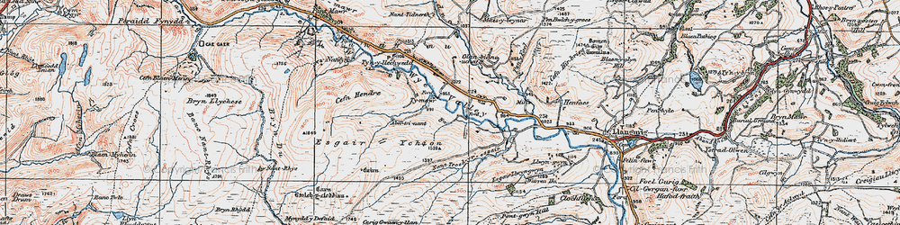 Old map of Wye Valley in 1922
