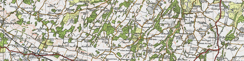 Old map of Wyebanks in 1921