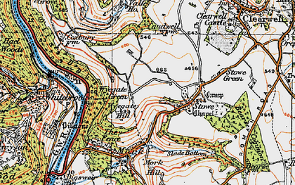 Old map of Wyegate Hill in 1919