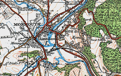 Old map of Wyesham in 1919