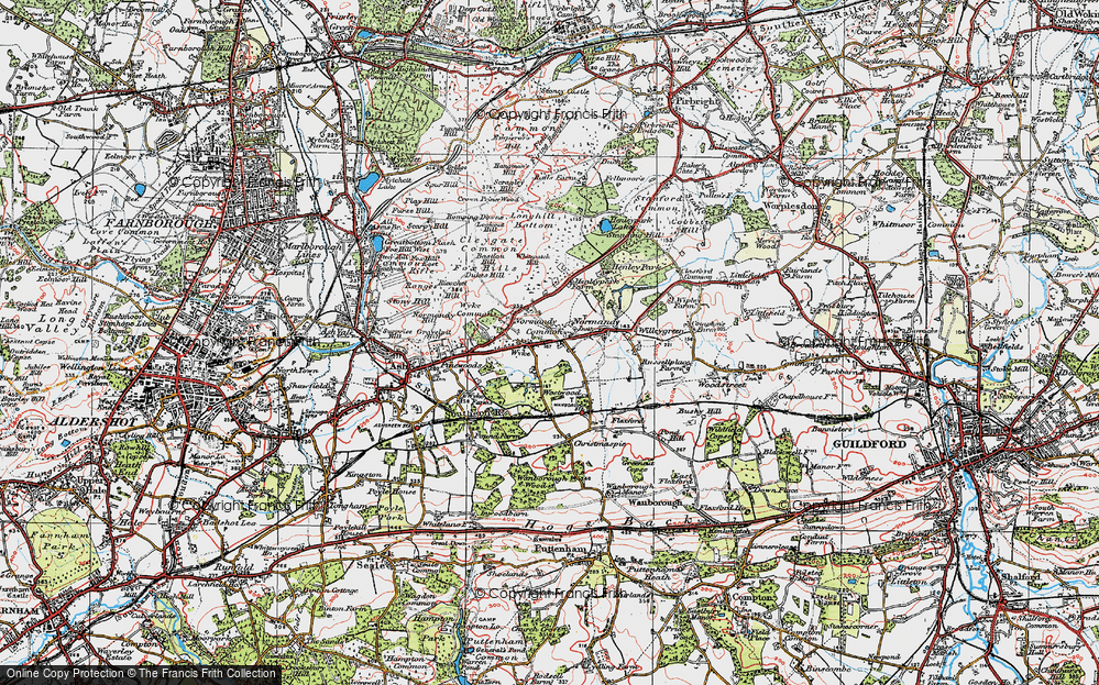 Old Map of Wyke, 1920 in 1920