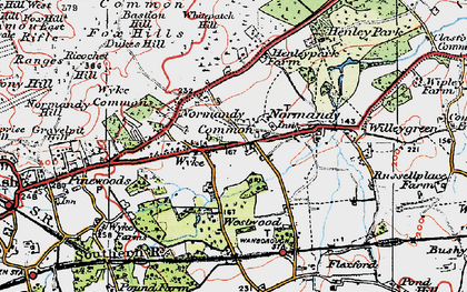 Old map of Wyke in 1920