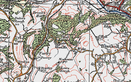 Old map of Wyke in 1921