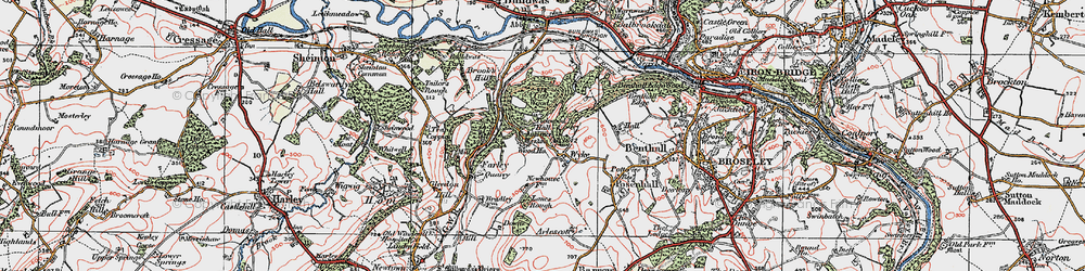 Old map of Tickwood Hall in 1921