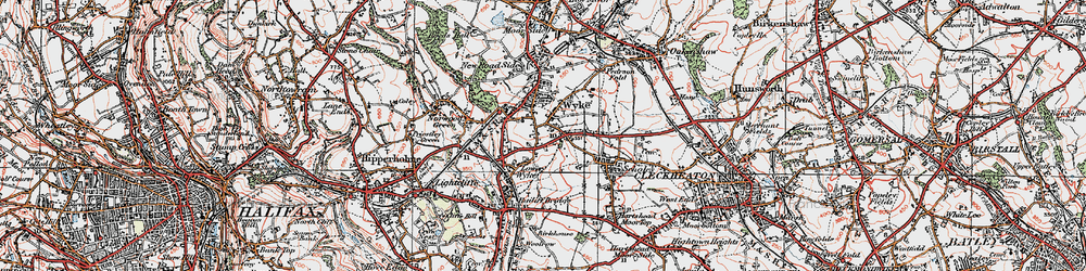 Old map of Wyke in 1925