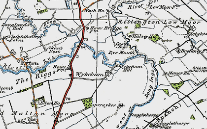 Old map of Wykeham in 1925