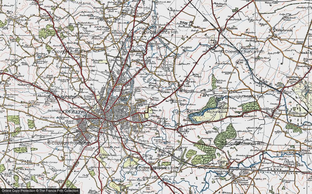 Old Map of Wyken, 1920 in 1920