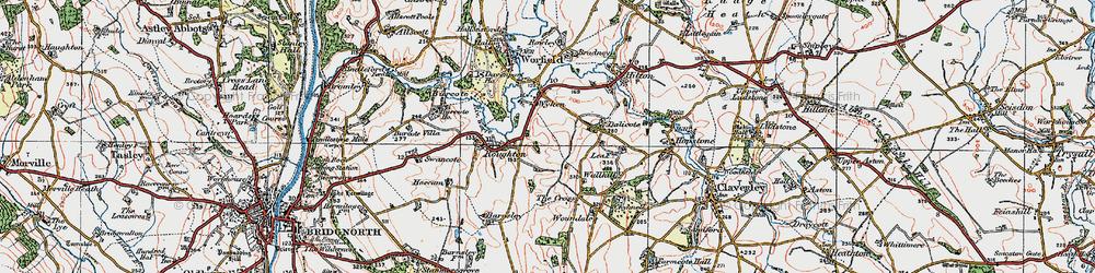 Old map of Wyken in 1921