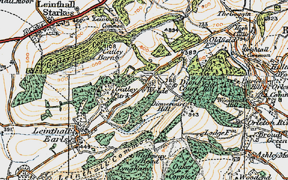 Old map of Wylde in 1920