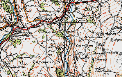 Old map of Wyllie in 1919