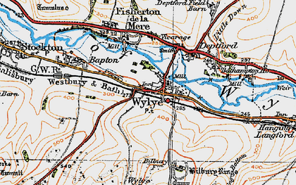 Old map of Bake, The in 1919