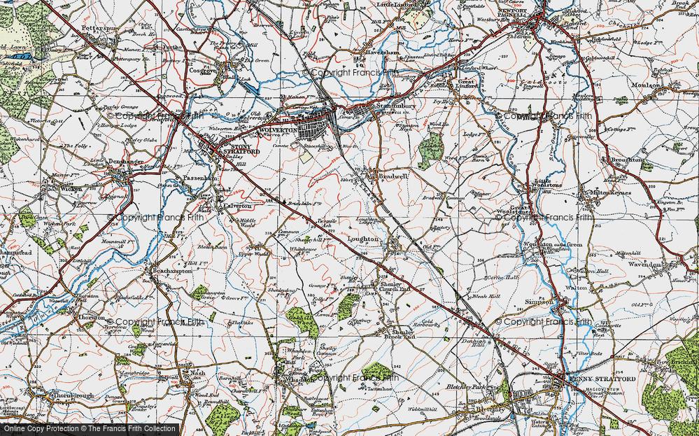 Old Map of Wymbush, 1919 in 1919