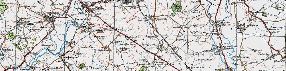 Old map of Wymbush in 1919