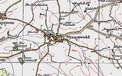 Old map of Wymeswold in 1921