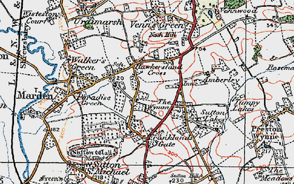 Old map of Wymm, The in 1920