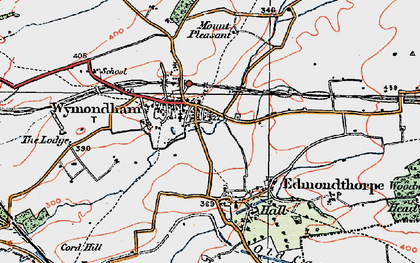 Old map of Wymondham in 1921