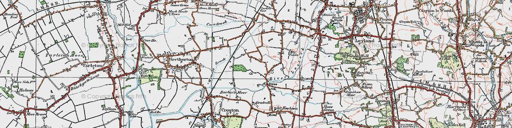 Old map of Wymott in 1924