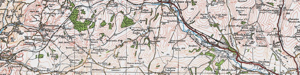 Old map of Wynford Ho in 1919