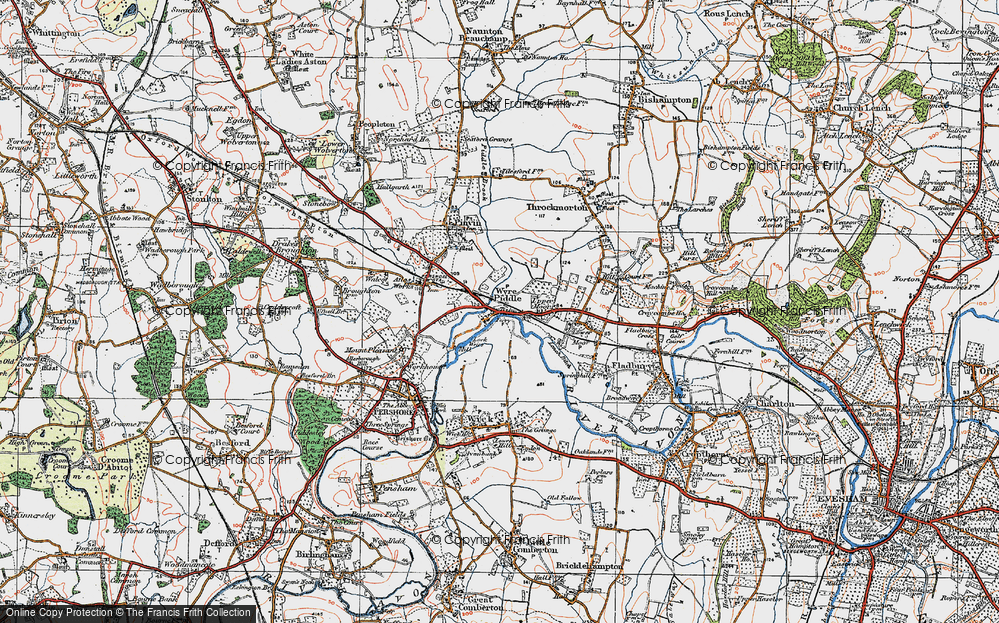 Old Map of Wyre Piddle, 1919 in 1919