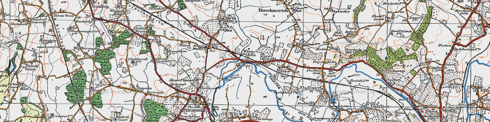 Old map of Wyre Mill in 1919
