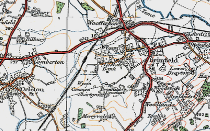 Old map of Wyson Common in 1920