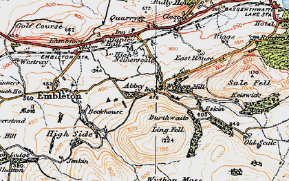 Old map of Wythop Moss in 1925