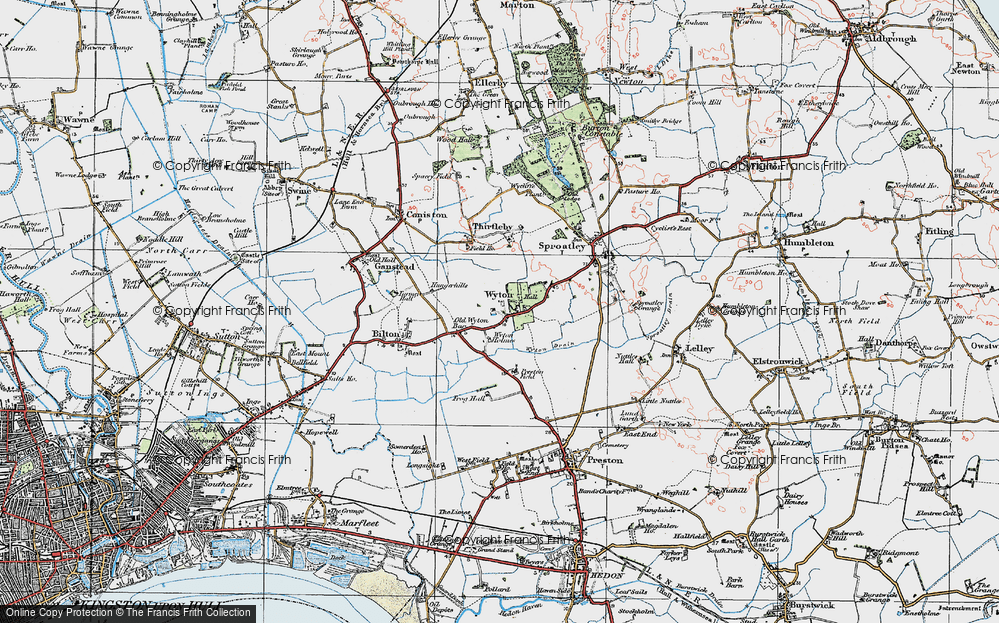 Old Map of Wyton, 1924 in 1924