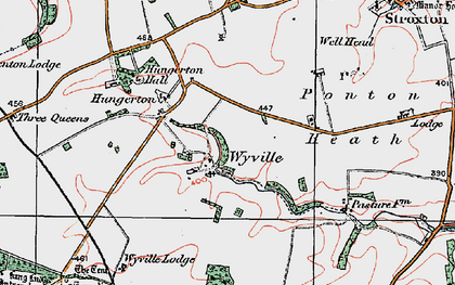 Old map of Wyville in 1921