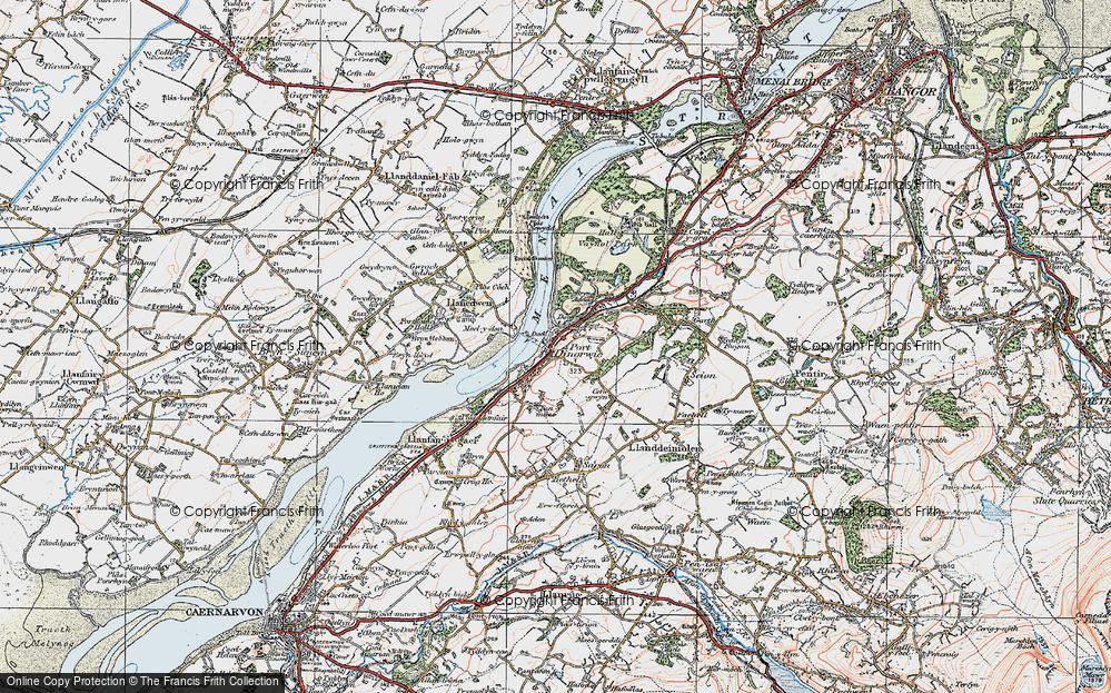Old Map of Y Felinheli, 1922 in 1922