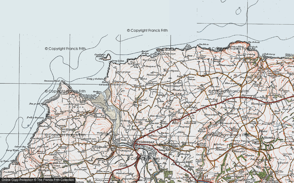 Old Map of Y Ferwig, 1923 in 1923
